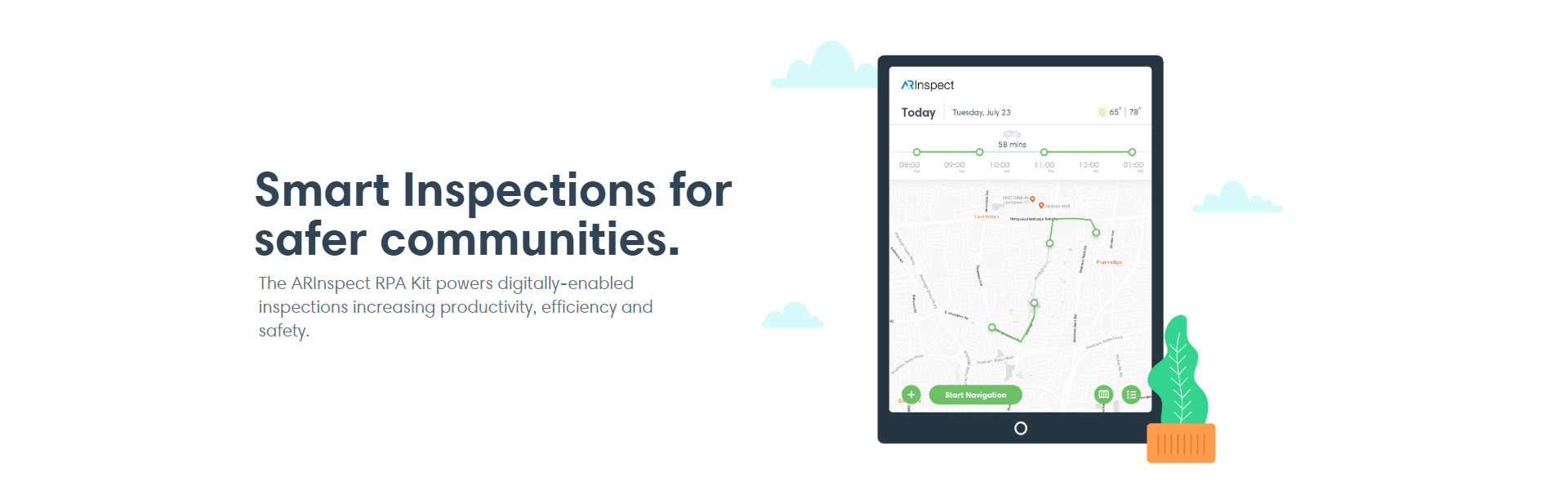 AR Inspect Smart Inspections for safer communities Mobile Inspection Application Back-Office Portal