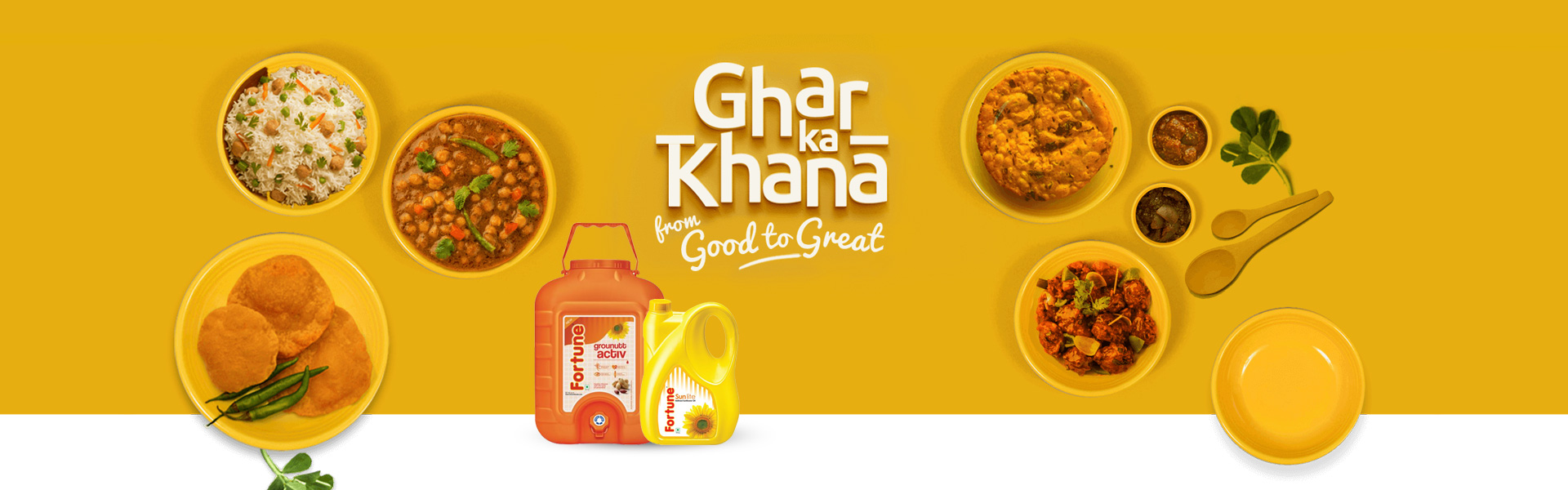 Fortune Foods by Adani Wilmar Delicious, wholesome and great is what your home-made food deserves to taste like. Taste Ghar ka Khana with Fortune Foods by Adani Wilmar. India's no.1 edible oil & food brand