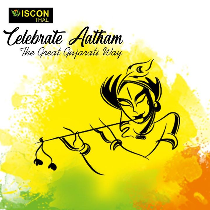 A feast filled with the rich culture of #Gujarat, prepared with joy and care.  Aa #janmashtami mano Chhapan Bhog no swad fakt Iscon Thal ma! We wish everyone a very happy Janmashtami.