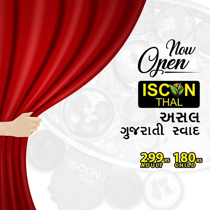 Now savour the best #GujaratiThali in #Ahmedabad!  Iscon thal brings to you the goodness of your favourite thali you want! And all of this only at 299₹ (Adult) or 190₹ (Child)   For further inquiries contact us on:   079-48955999 079-48944999