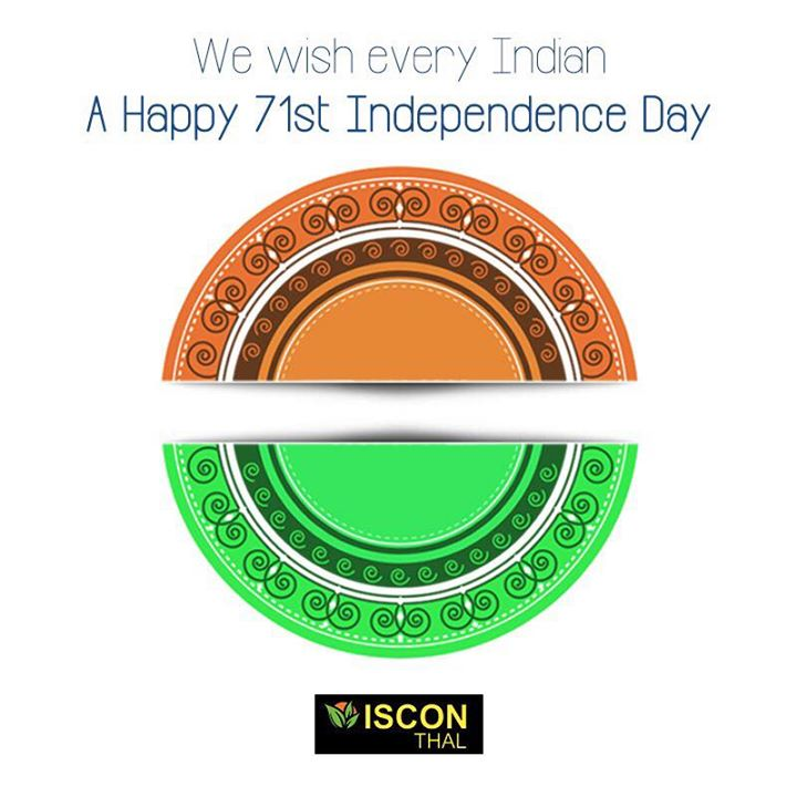 #Independence is a feeling. A feeling of #freedom, of #happiness and of #liberty. We are greatful to the sacrifice of so many leaders who made it possible for us to live free in this country. Iscon Thal wishes every citizen a very happy 71st #IndependenceDay