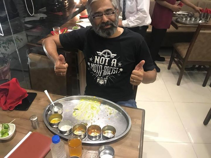 Hero of ''ISCON THAL''  Great message for all... clean your Dish ...we served very hot and tasty food for our guest  So please don't waste food  Many people live in India no have food for life Please like this Great man
