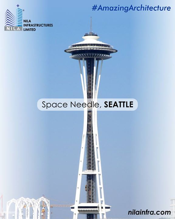 The futuristic Space Needle in Seattle, Washington was built for the 1962 World's fair. The famous landmark stands at 184 m high and 42 m wide at its widest point. Not only is the architecture a marvel to look at but the building's impressive design can survive wind velocities of 200 mph and can escape serious structural damage during earthquakes of up to 9.1 magnitudes.   #NilaInfrastructure #Realestate #BuildToTransform #Surat #Ahmedabad