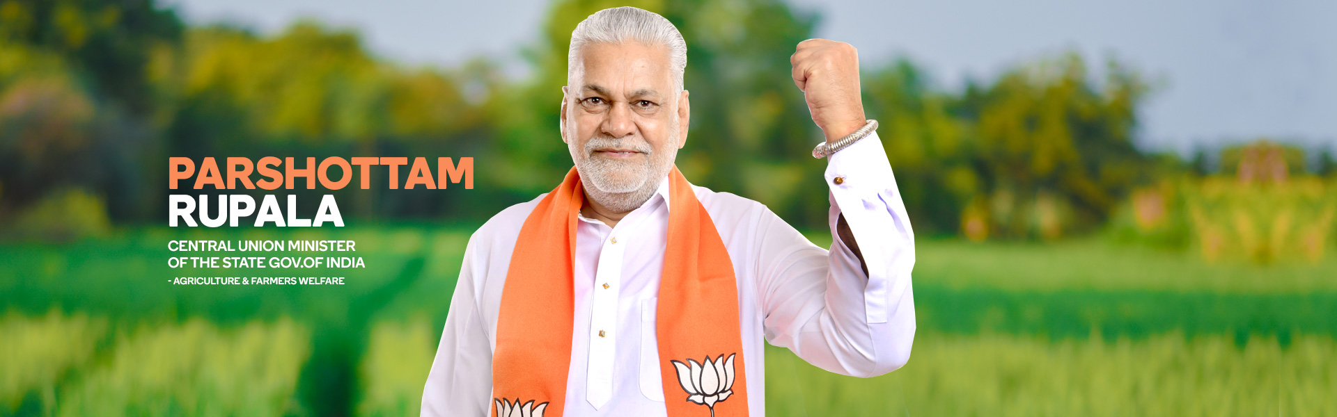 Parshottam Rupala Central Union Minister of the State Gov.Of India - Agriculture & Farmers Welfare