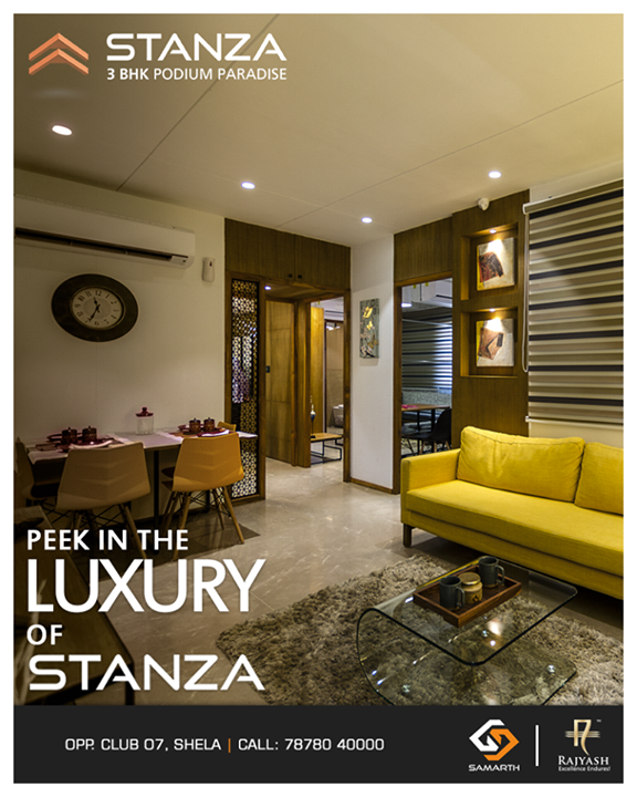Have a visit for a view of luxurious home of #Stanza!  #SampleHouseReady #SampleHouse #SamarthBuildcon #LuxuryLiving #Home #Ahmedabad #SmartLiving #RealEstate