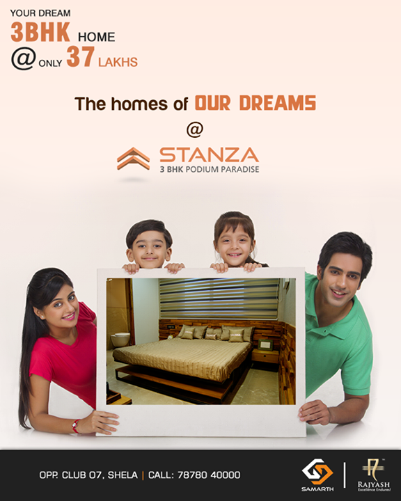 They have their dream homes booked at #Stanza, how about you?  #SamarthStanza #Quality #Precision #SamarthBuildcon #LuxuryLiving #Home #Ahmedabad #SmartLiving #RealEstate