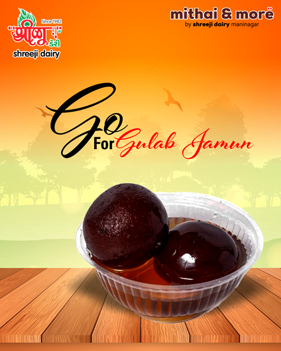 Make your evenings sweeter with Gulab Jamun after your meal.  #GulabJamun #ShreejiDairy #Ahmedabad #Maninagar