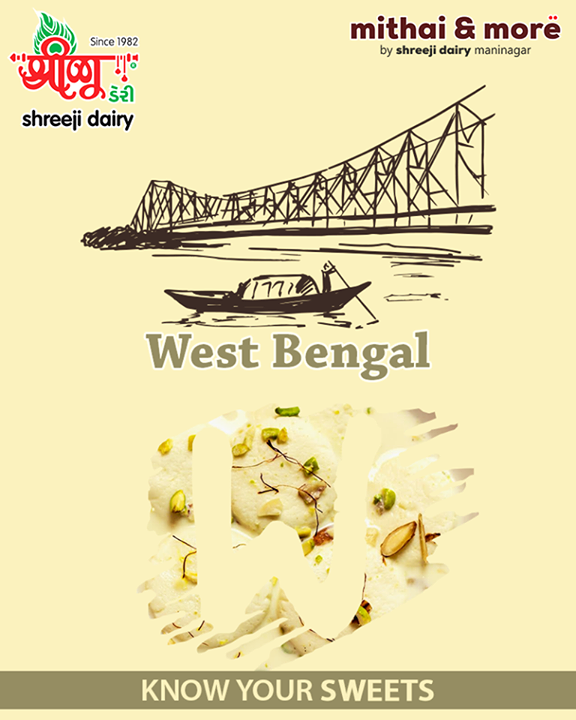This exotic and delicious Indian sweet made with cottage cheese. These sweet dumplings are soaked in milk syrup laced with cardamom. Rasmalai is originally from West Bengal but this sweet dish is popular around the world.   #DidYouKnow #Rasmalai #WestBengal #ShreejiDairy #Ahmedabad #Maninagar