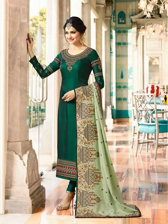 Buy ZaraaFab new arrival pine green churidar kameez suit online for women at exciting discounted prices. Explore our latest charming green coloured churidar in various size and design. https://bit.ly/2Jw2KAg #pinegreenchuridar #salwarkameez #churidarsuit #onlineshopping #greenchuridarsuit #designerwear #greensalwarsuit #indiansuits #indianfashion #ethnicwear #eid2018 #indiandress