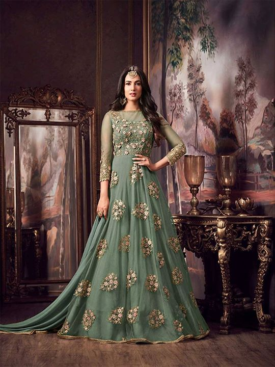 Shop from ZaraaFab's beautiful collection of light green long anarkali dress suits at best price. Checkout variety of anarkali suits, floor length anarkali suits, party wear dresses for every occasion. https://bit.ly/2CXHsaY #anarkalisuit #salwarkameez #indianfashion #indianwear #designerwear #indowestern #sale #discount #weddingdress #partywear #festivecollection #salwarsuit