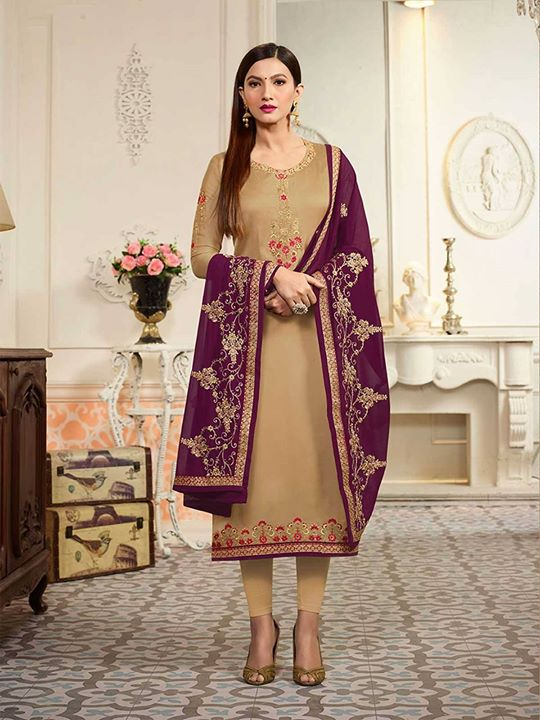 Shop the latest collection of beige color Georgette straight semi stitched suit with best fabric available here at free shipping. Buy embroidered and stylish salwar suits at affordable prices. https://bit.ly/2rca38Y #salwarkameez #salwarsuit #indiandesignersuits #pakistanidress #indiansalwar #ethnic #indiandresses #womensfashion #dealoftheday #onlineboutique