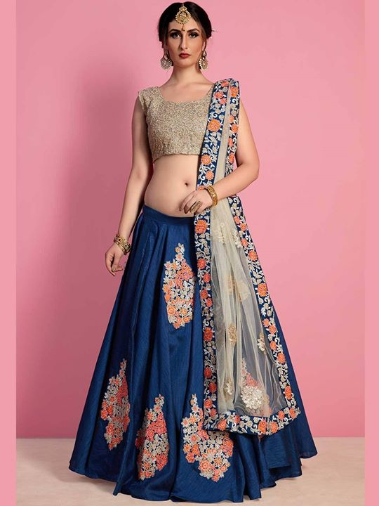 Buy blue color wedding ceremony lehenga choli online at very affordable price from ZaraaFab UK. Buy blue embroidered ethnic wedding designer lehenga in various designs. https://bit.ly/2MrPqyk #bluecolorlehenga #weddinglehenga #bridallehenga #lehengacholi #weddingdress #lehengadress #indianlehenga #indianclothes #indianfashion #indianwear #Shipping #USA #UK #Germany #France #Denmark