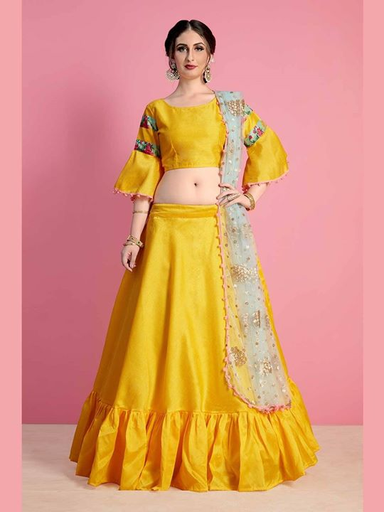 Buy premier collection of yellow color wedding ceremony lehenga dress, lehenga cholis and ethnic wear clothing for your special occasion. Get the quality and affordable range of colorful designer yellow lehengas. https://bit.ly/2KlhP97 #yellowlehenga #lehengacholi #engagementlehenga  #yellowlehengacholi #lehengaonline #bridallehenga #ethnicwear #desigerlehenga #indianclothes #weddinglehenga #shipping #UK #USA #Sweden #France