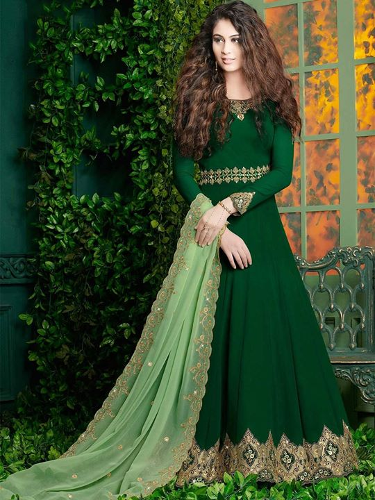 Buy online green color designer floor length indian salwar kameez suits at a discounted price from ZaraaFab. We offer designer anarkali dress to traditional shalwar suits. https://bit.ly/2CXHsaY #salwarkameez #anarkalisuit #dressmaterial #suits #ethnicwear #indianwear #fashion #indiancouture #embroidery #festivewear #onlineshopping #longanarkali