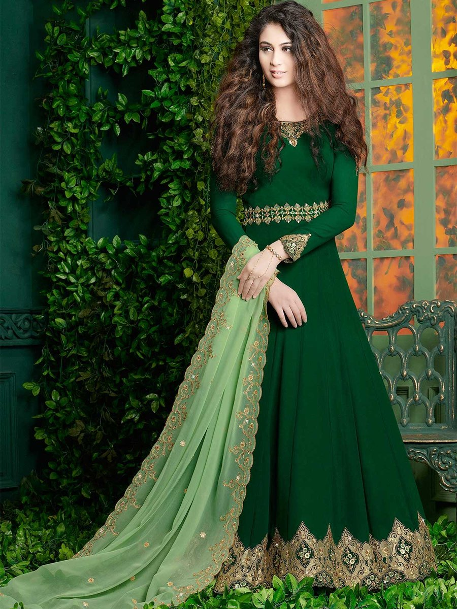 Buy online green color designer floor length indian salwar kameez suits at a discounted price from ZaraaFab. We offer designer anarkali dress to traditional shalwar suits. https://t.co/T5fVD3CAY0 #salwarkameez #anarkalisuit #dressmaterial #suits #ethnicwear #indianwear #fashion https://t.co/yUcJyGpVBF